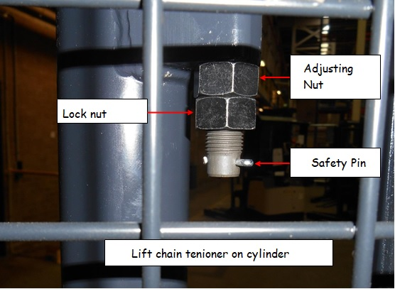 lift chain tension on cylinder